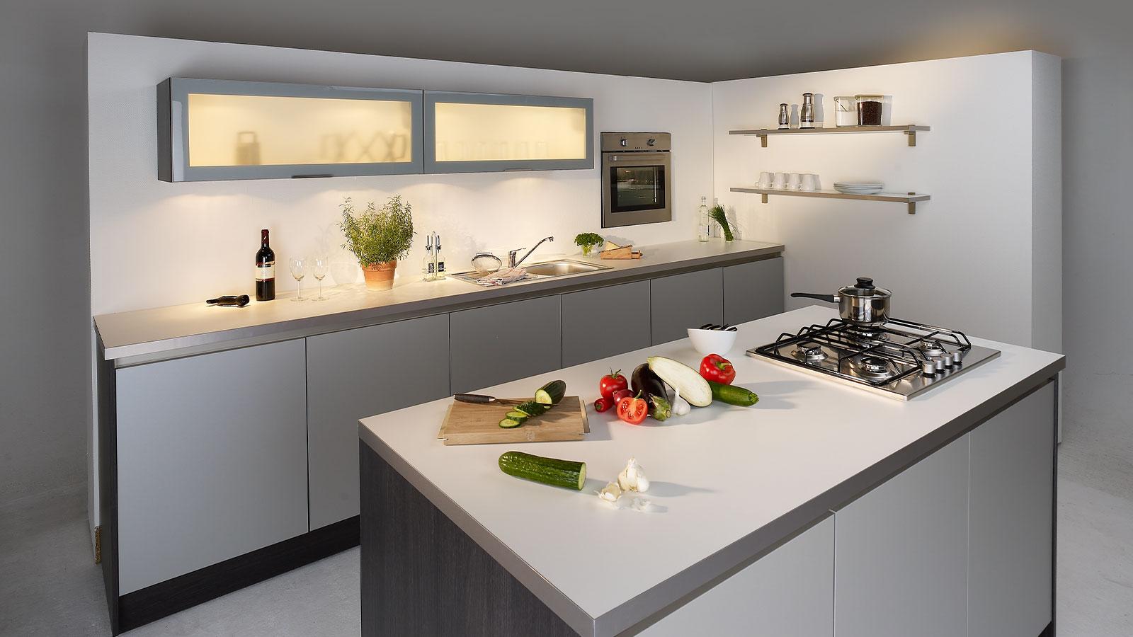 fahrbare Küche im Fotostudio