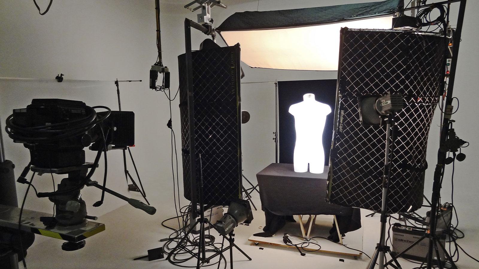 Lichtkörper im Fotostudio